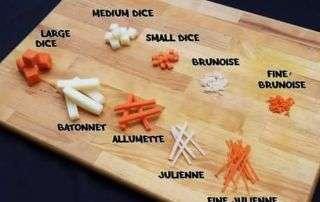 taglio della verdura - di tutti i sapori