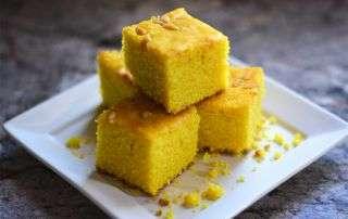 sfouf dolce libanese alla curcuma